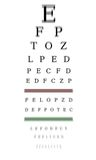 Optometrist chart Stock Images