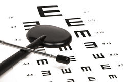 Optometrist chart with indicating bar Royalty Free Stock Photos