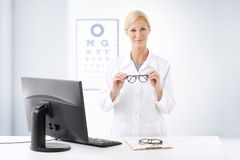 Optometrist doctor portrait Royalty Free Stock Photos