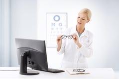 Optometrist doctor portrait Stock Photos