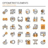 Optometrist Elements Royalty Free Stock Photo