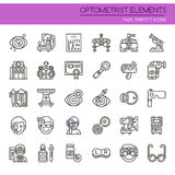 Optometrist Elements. Thin Line and Pixel Perfect Icons Stock Photos