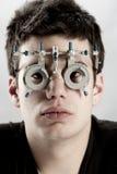 Optometrist exam Stock Photo