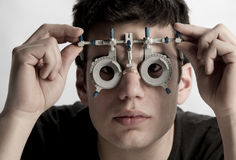 Optometrist Exam Stock Image