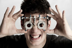 Optometrist exam Royalty Free Stock Photography