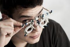 Optometrist Exam Stock Images
