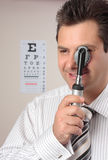 Optometrist, eye doctor Royalty Free Stock Images