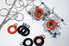optometrist s πλαισίων δοκιμή Στοκ φωτογραφίες με δικαίωμα ελεύθερης χρήσης