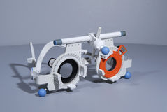 optometrist s πλαισίων δοκιμή Στοκ Φωτογραφία