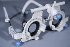 optometrist s πλαισίων δοκιμή Στοκ φωτογραφία με δικαίωμα ελεύθερης χρήσης