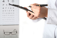 In optometrist's office Stock Images