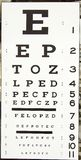 Optometrist sign. An eye test sign Royalty Free Stock Images
