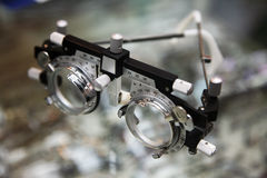 Optometrist spectacles Stock Photography