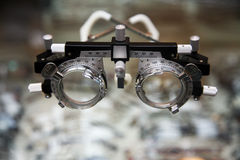 Optometrist spectacles. For eye exams royalty free stock photos