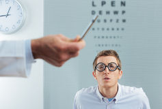 Optometrist Visit Stock Images
