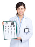 Optometrist woman doctor Stock Image