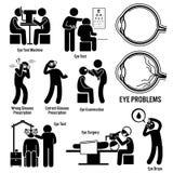 Optometrista Clipart da cirurgia do exame do diagnóstico do olho ilustração royalty free