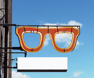 Optometrista Sign Foto de Stock Royalty Free