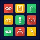 Optometry Icons Flat Design Stock Image