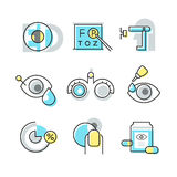 Optometry ikony ilustracji