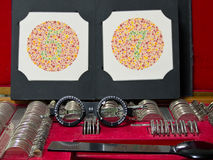Free Optometry Lens, Eyeglasses And Color Blind Test Stock Photo - 24390630