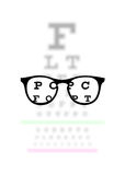 Optometry medical background Stock Photo