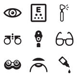 Optometrysymboler royaltyfri illustrationer