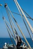 Optuigen van een Varend Schip Royalty-vrije Stock Afbeelding