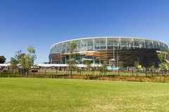 Optus (Perth) Stadium. View of newly built Optus Stadium and surrounding area, located in Burswood, Perth, Western Austratli Stock Photography