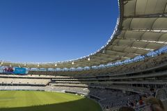Optus Stadium inside. Partial view of the newly opened Optus Stadium located in Burswood, Perth, Western Australia Stock Photography