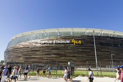Optus Stadium in Western Australia royalty free stock images