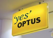 Optus-Telekommunikation Australien lizenzfreies stockbild