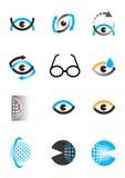 Optyki oka ikony set Zdjęcia Stock