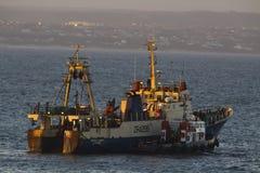 opuścić schronienia połowowych łodzi Fotografia Stock