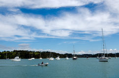 Opua marina at the  Bay of Islands New Zealand Royalty Free Stock Image