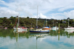 Opua marina at the  Bay of Islands New Zealand Royalty Free Stock Image