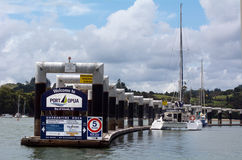 Opua marina at the  Bay of Islands New Zealand Stock Photos