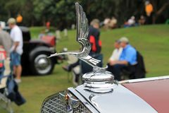 Opulent vintage American car front detail Royalty Free Stock Photography