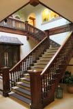 Opulent Victorian stairway Stock Images