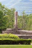 Opus 40. Located in Saugerties, NY, and on the National Register of Historic Places, Opus 40, is the artistic creation of Harvey Fite stock photo