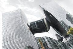 The Opus - The first building in Dubai, the greatest architect Zaha Hadid. The Opus, Dubai, United Arab Emirates - Oct.19, 2018: The first building in Dubai, the royalty free stock photo