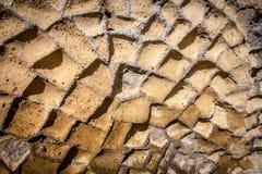 Opus Incertum, tufo, Herculaneum, Itália imagens de stock royalty free
