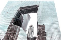 The Opus - Modern Liquid Building from Architect Zaha Hadid, Dubai, UAE. The Opus, Dubai, United Arab Emirates - Oct.19, 2018: Modern `Liquid` Building from stock images