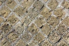 Opus reticulatum viewing,opus reticulatum picture,opus reticulatum image. Typical texture of Roman masonry called opus reticulatum royalty free stock image