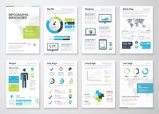 Opuscoli di Infographic per visualizzazione di dati di gestione Immagine Stock