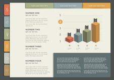Opuscolo, aletta di filatoio, bollettino, modello della disposizione del rapporto annuale Immagine Stock