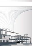 Opuscolo: architettura o società di costruzioni Immagine Stock