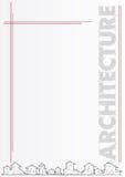 Opuscolo: architettura o società di costruzioni Immagini Stock