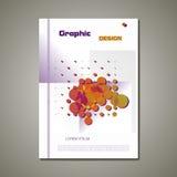 Opuscolo astratto di vettore, progettazione grafica Fotografia Stock