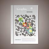 Opuscolo astratto di vettore, progettazione grafica Immagine Stock Libera da Diritti